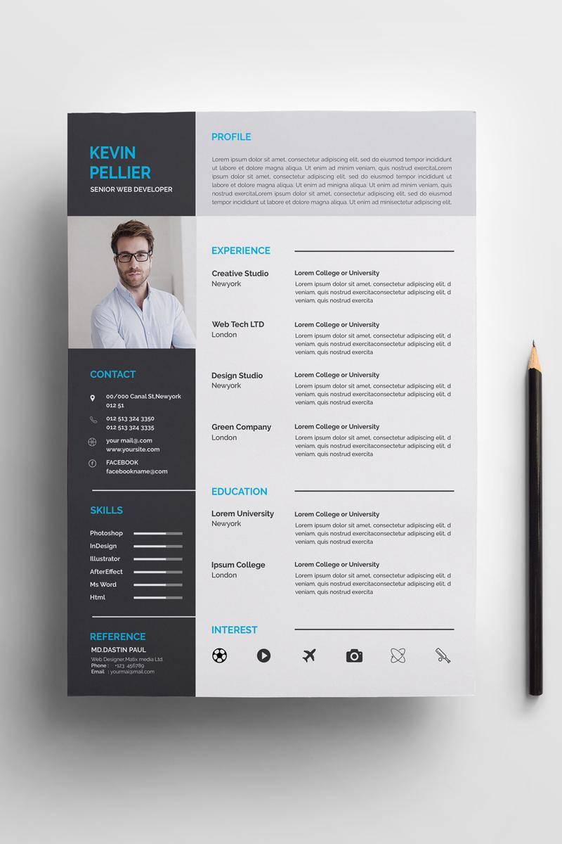 Pellier Clean Resume Template