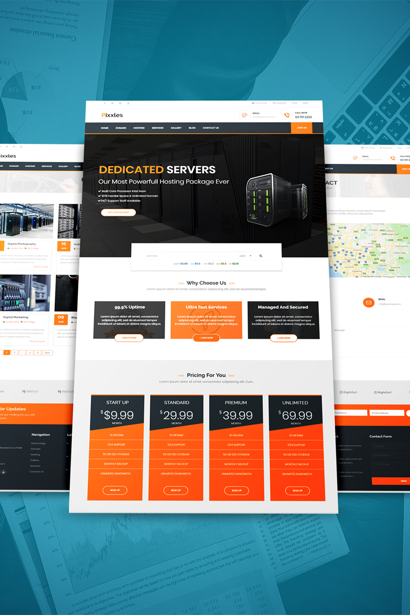 Pixxles - Multipurpose Website Template - screenshot