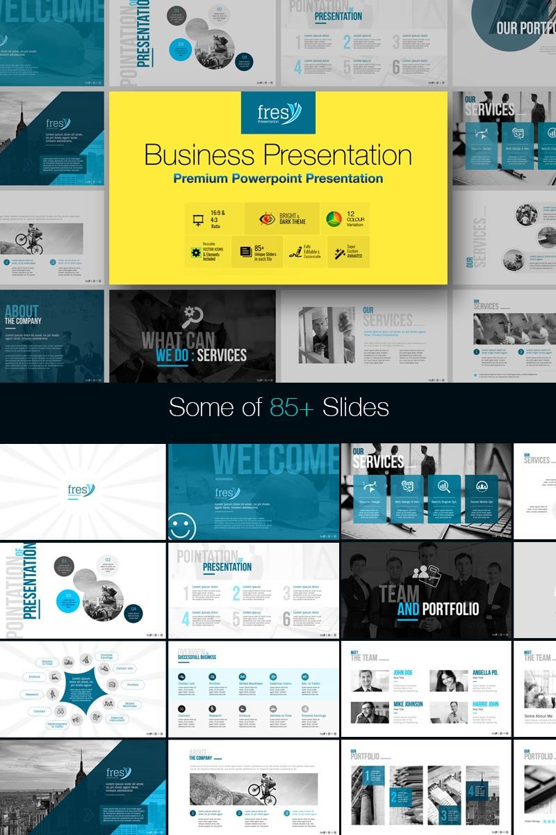 "Plantilla PowerPoint ""Fresy | Business"" #73787 - captura de pantalla"