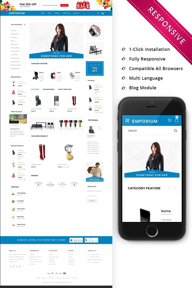 Responsive Emporium - Mega Store Responsive Opencart #73745