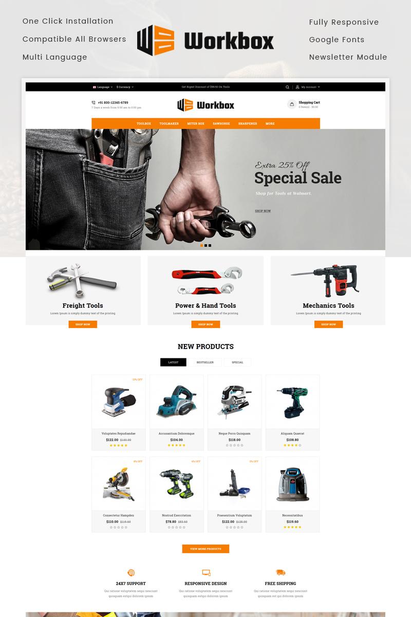 Responsive Work Box - Tools Store Opencart #73716
