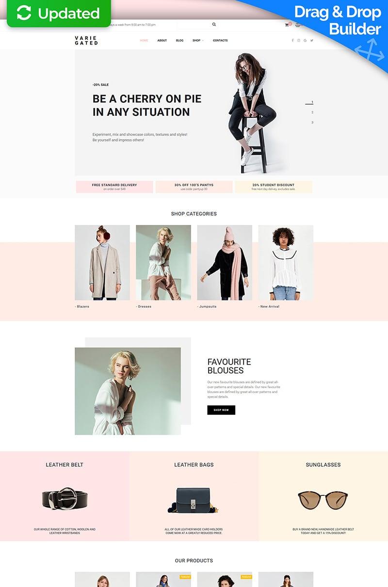 Responsywny ecommerce szablon MotoCMS Varie Gated - Fashion Online Store #73783