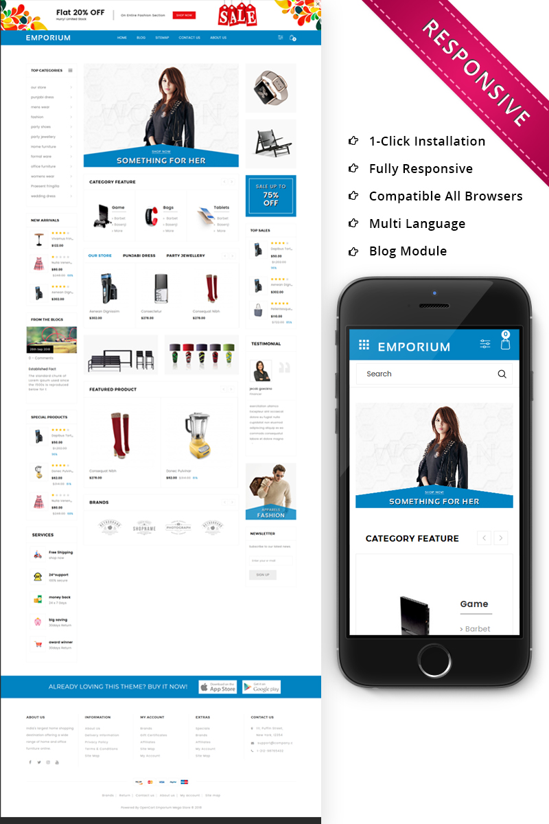 Responsywny szablon OpenCart Emporium - Mega Store Responsive #73745