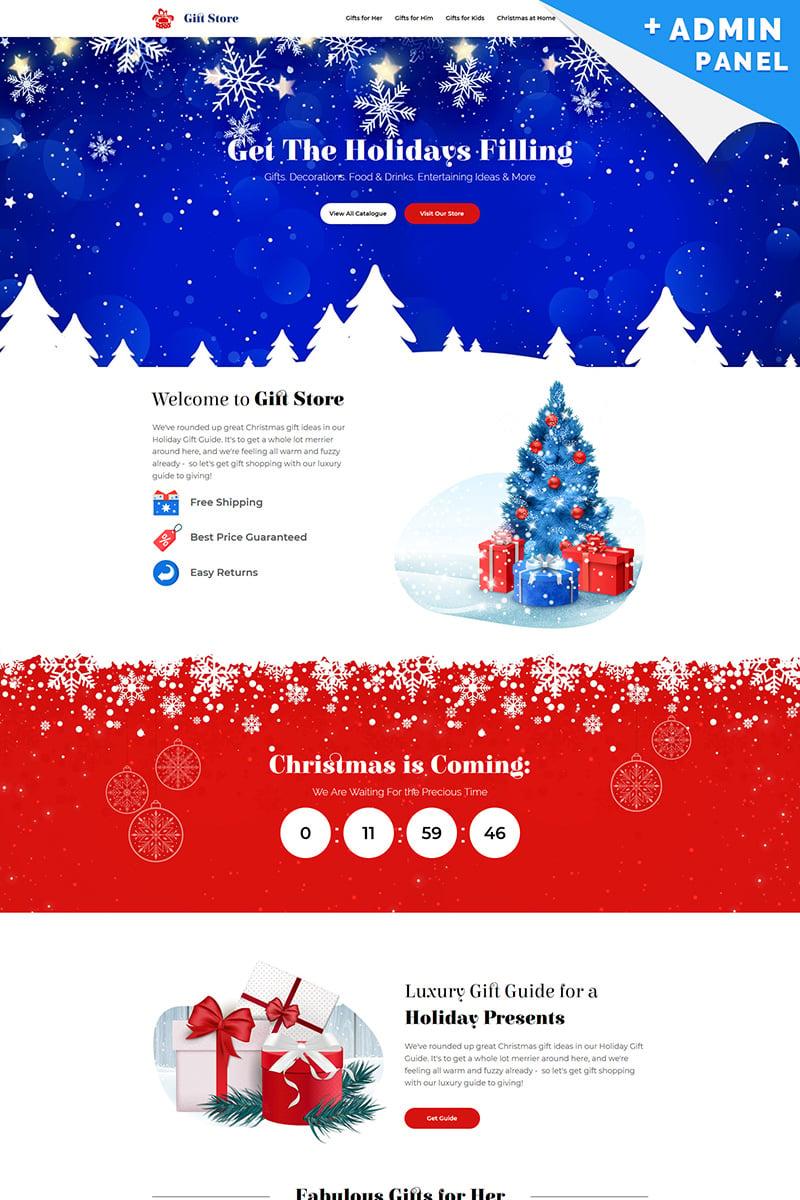 Reszponzív Gift Store - Christmas Nyítóoldal sablon 73785