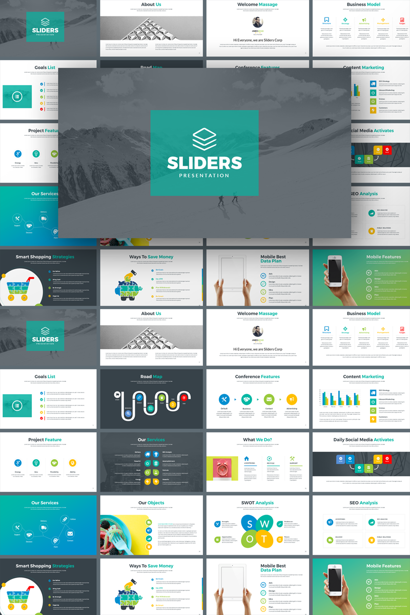 Sliders - Multipurpose PowerPoint sablon 73711