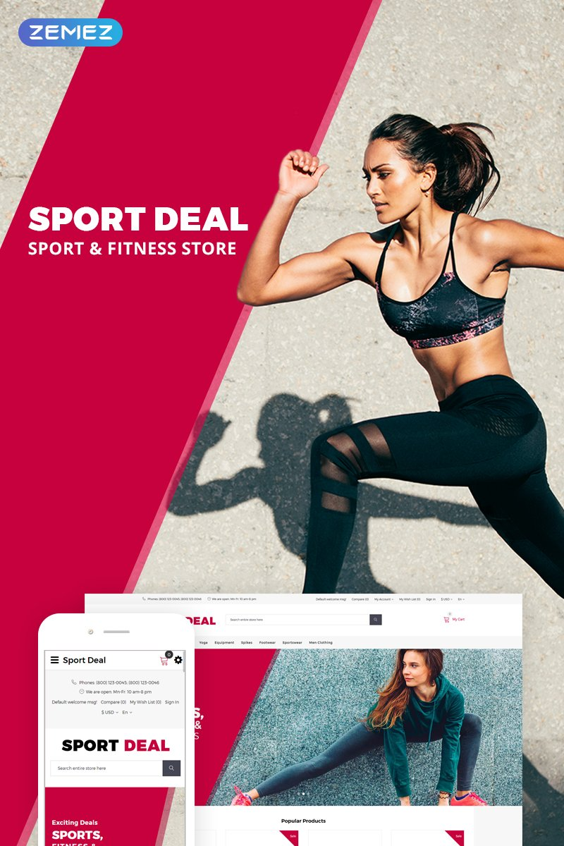 Sport Deal Template OpenCart №73712