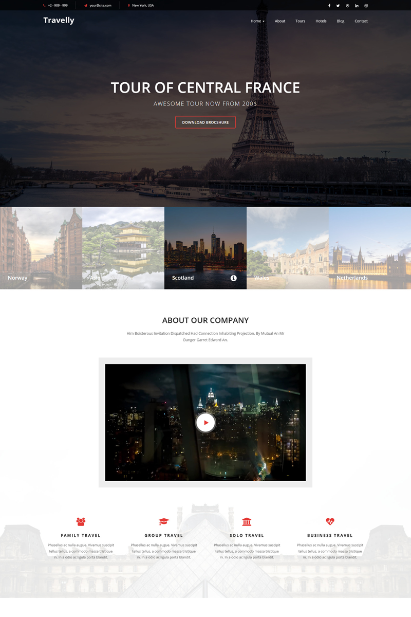 Travelly - Travel Agency Landing Page Template