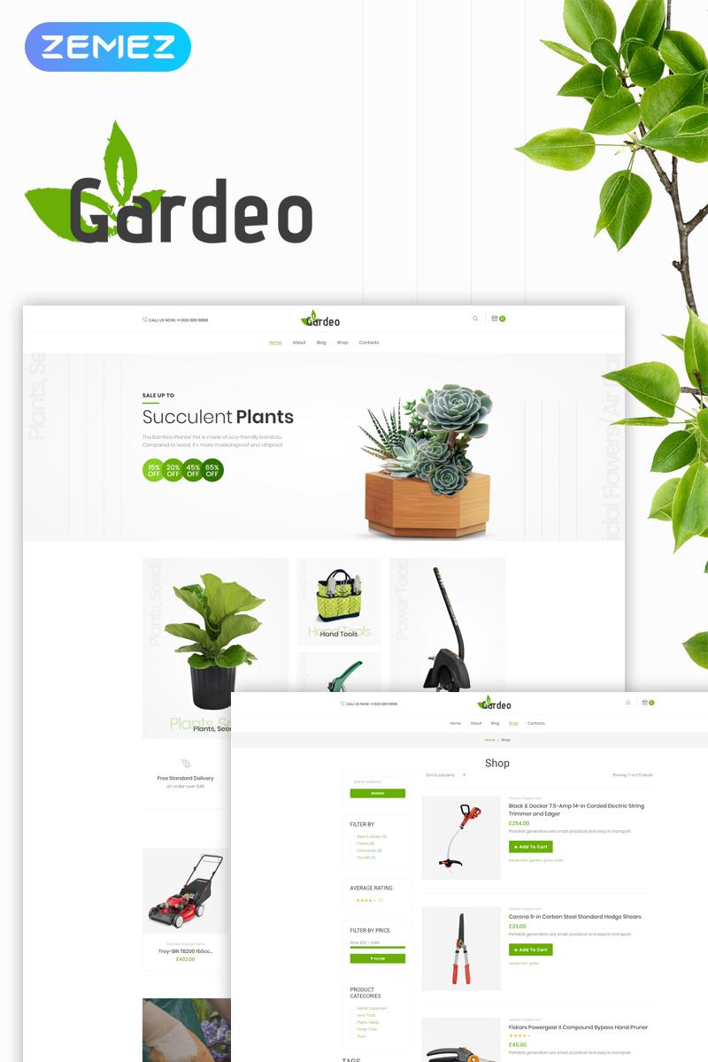 """WooCommerce Theme namens """"Gardeo - Garden Equipment Elementor"""" #73727"""