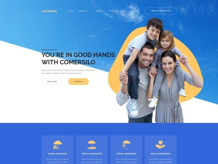 Insurance Company Website Design - Comersilo - main image
