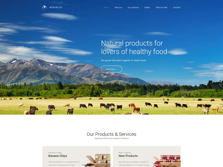 Agriculture Web Design - Agrialco
