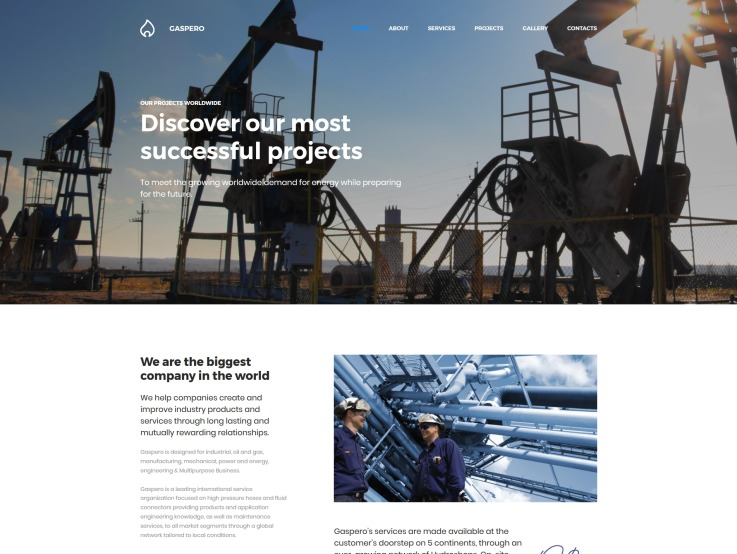 Oil Company Website Design - Gaspero - main image