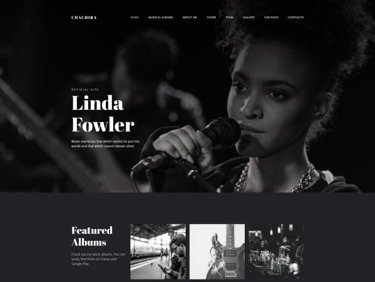 Artist Website Design - Chachira - main image