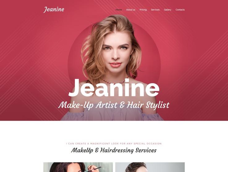 Freelance Makeup Artist Website