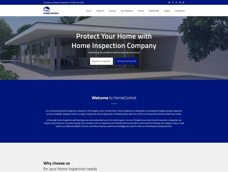 Home Inspector Website Design Homecontrol Templatemonster