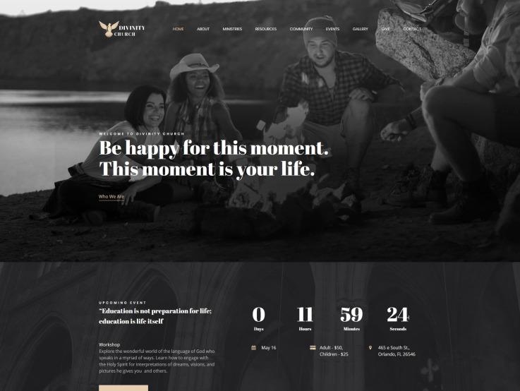 Modern Church Website Design - ModernChurch