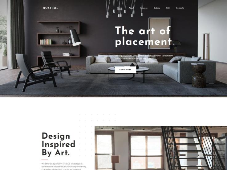 Interior Design Website Template For Home Decor Studios