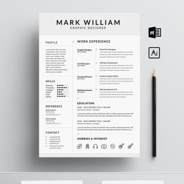 Preview image of Mark William Cv/