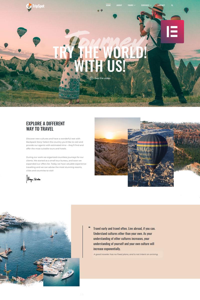 TripSpot - Travel Elementor WordPress Theme