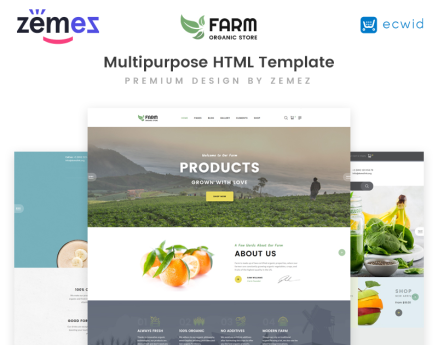 Organic Farm Multipurpose HTML Website Template