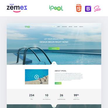 ipool pool design html landing page