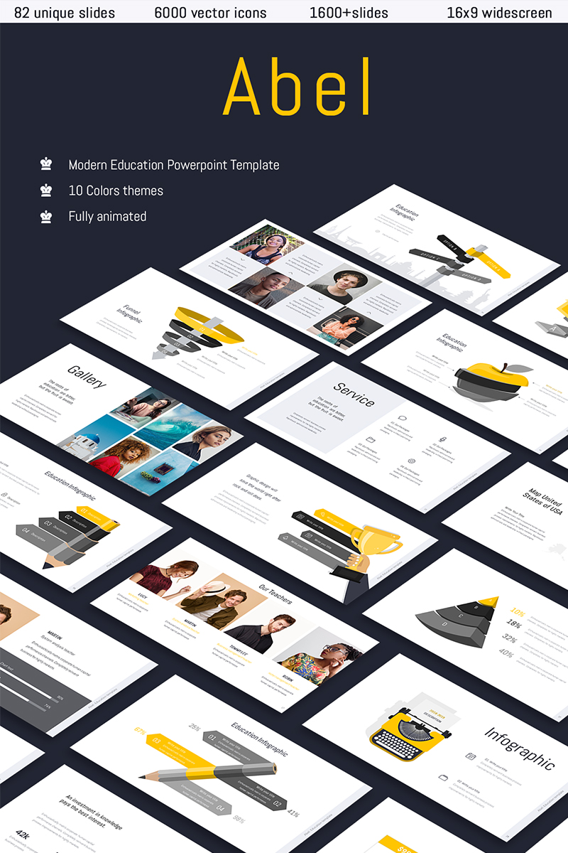 """Abel-Education & Multipurpose"" PowerPoint Template №73897"