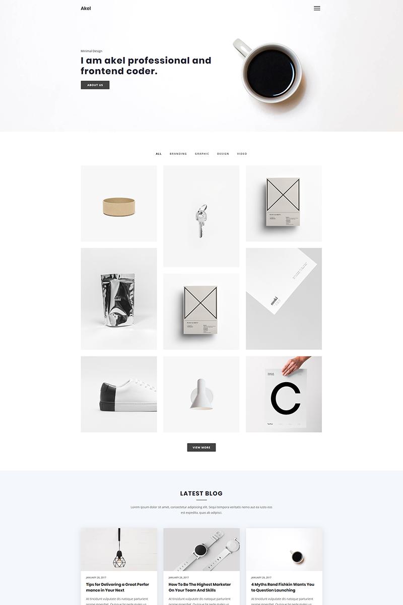 """Akel - Minimal Portfolio"" Responsive Website template №73828"