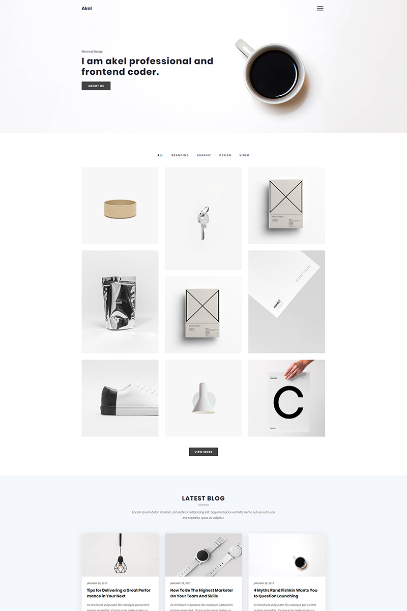 Akel - Minimal Portfolio Website Template