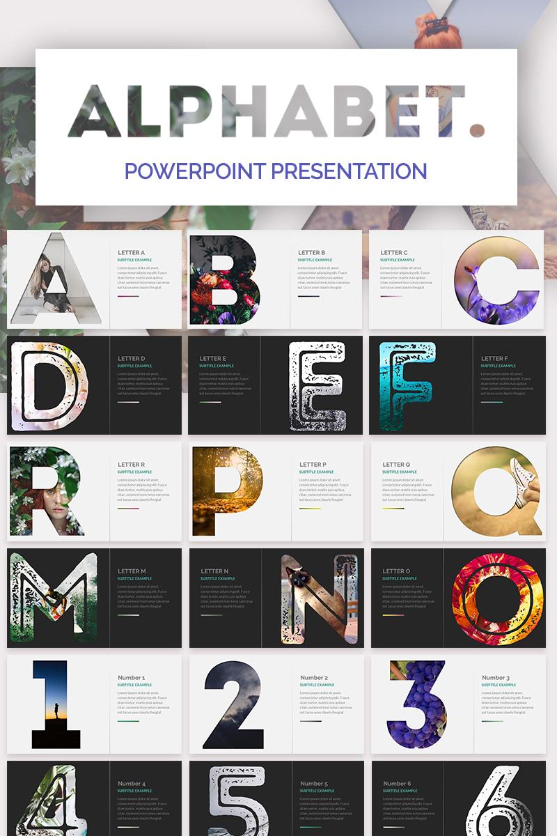 Alphabet Powerpoint PowerPoint sablon 73848