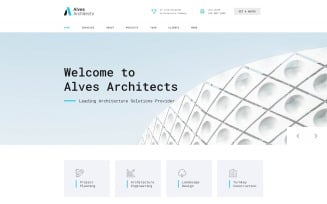 Alves Architects - Light Architecture Company HTML Landing Page Template