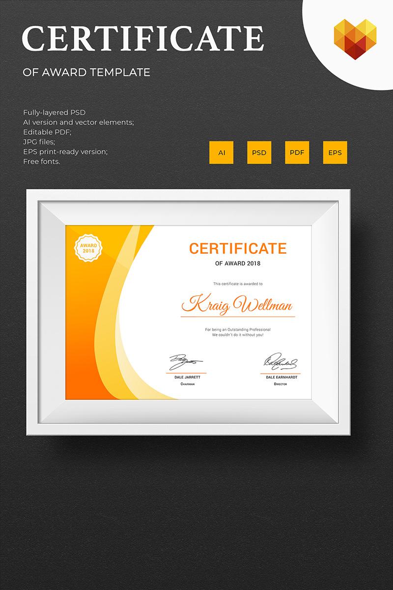 """Award"" modèle de certificat  #73891"
