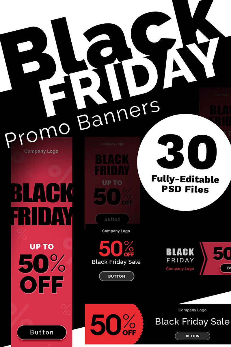 Black Friday Promo Banners Pacote №73850