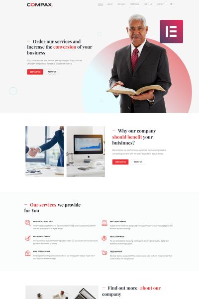 Compax - Minimal Creative Business Elementor