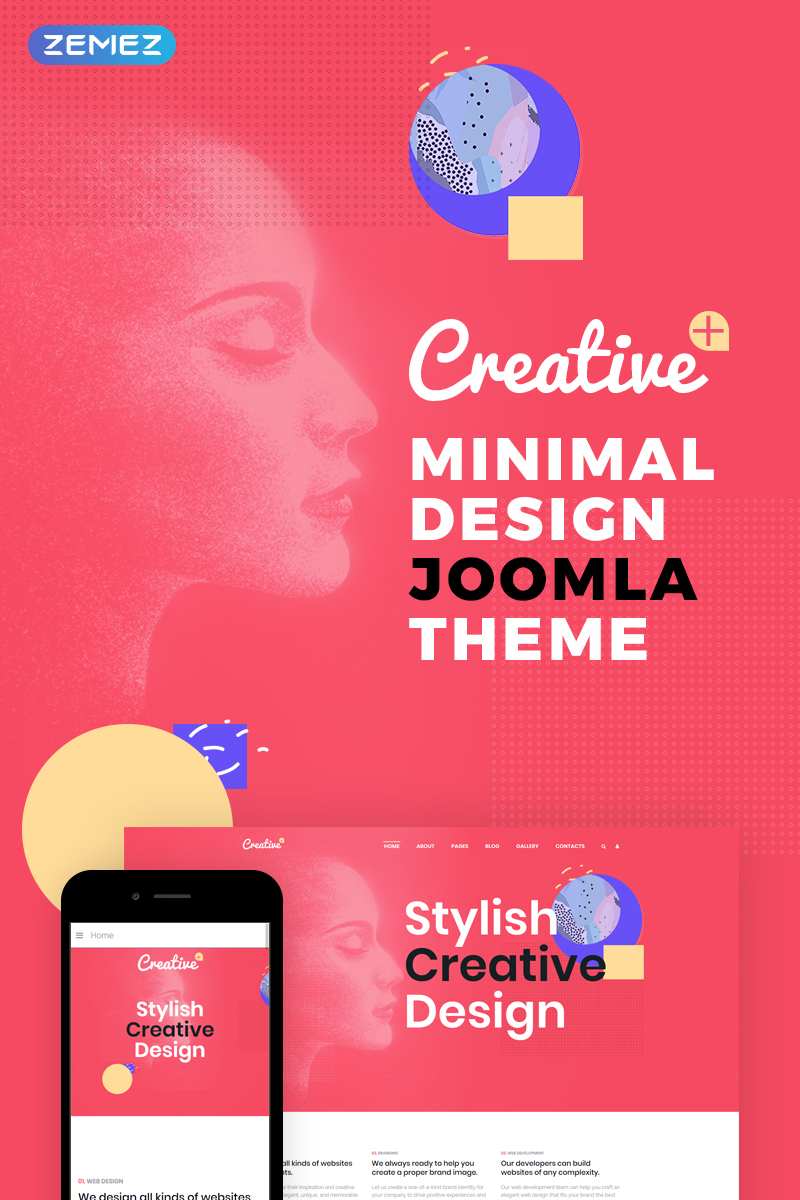 Creative - Web Design Studio Joomla Template - screenshot