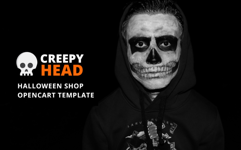 """Creepy Head - Halloween Shop"" - адаптивний OpenCart шаблон №73849"
