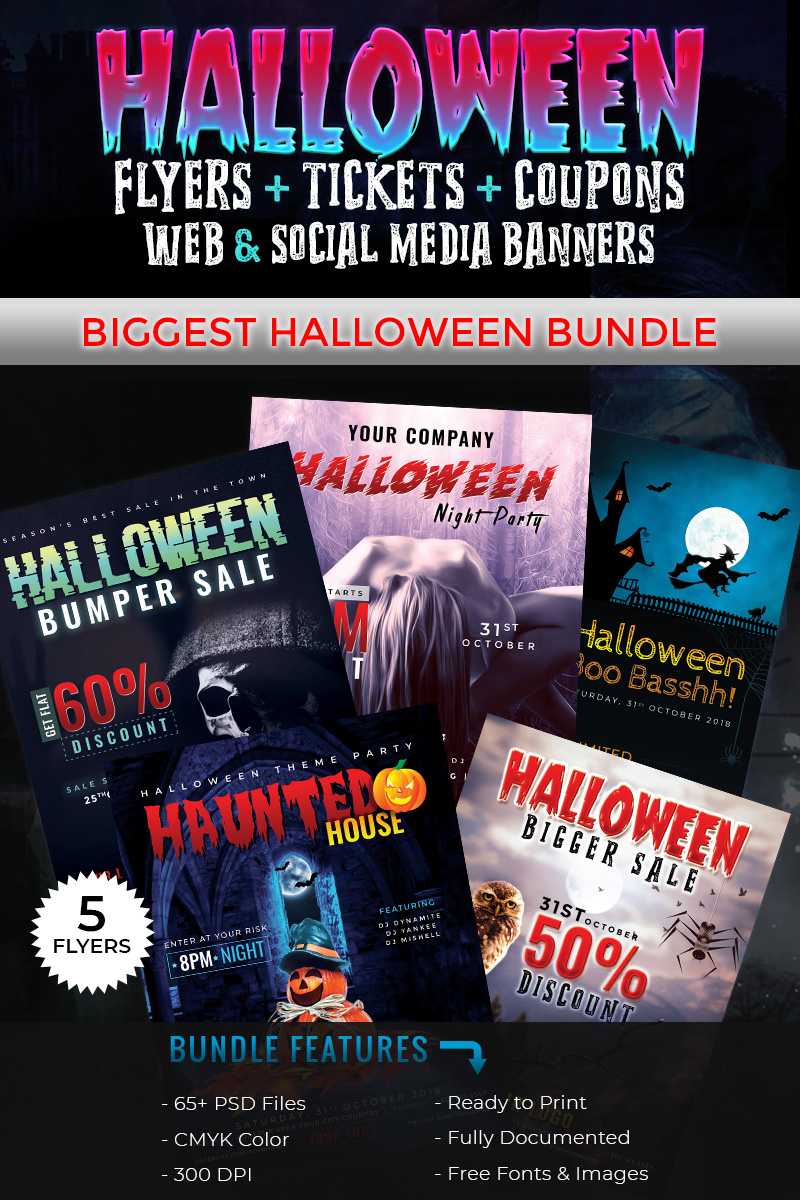 Halloween Big Bundle - Corporate Identity Template - screenshot