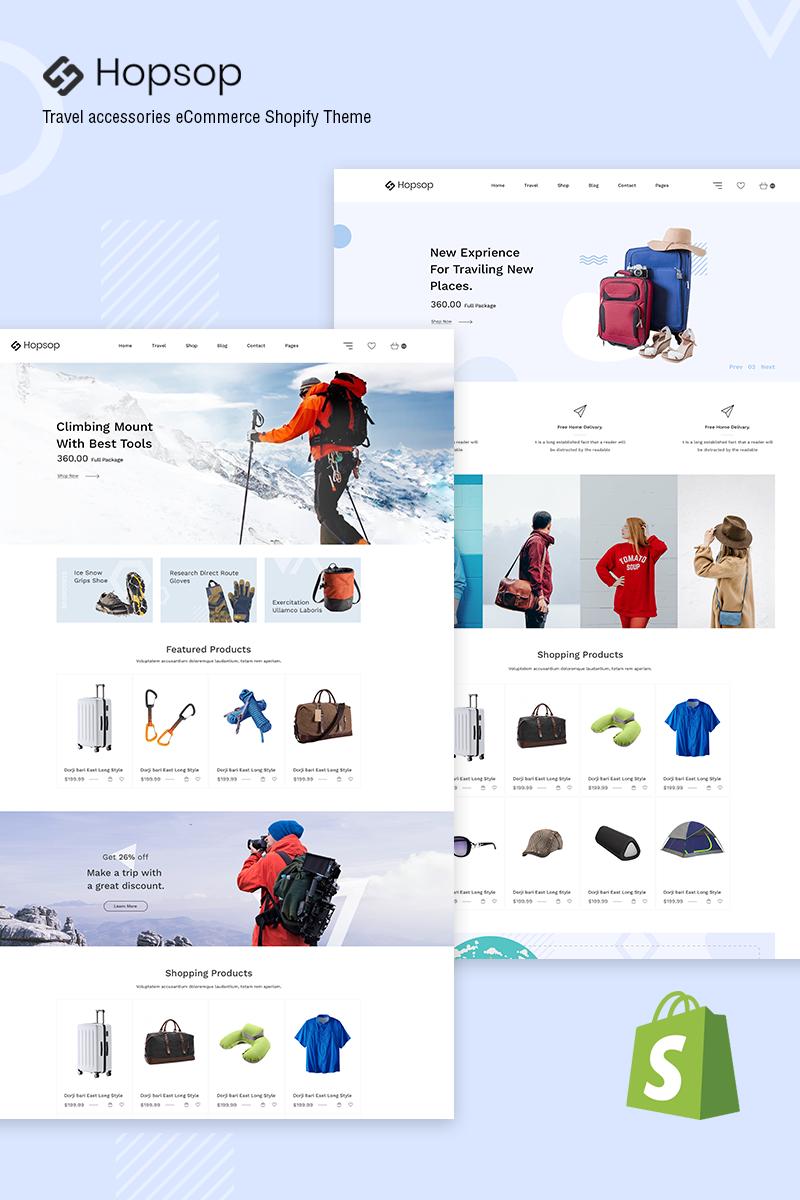 Hopsop - Travel Accessories Shopify Theme
