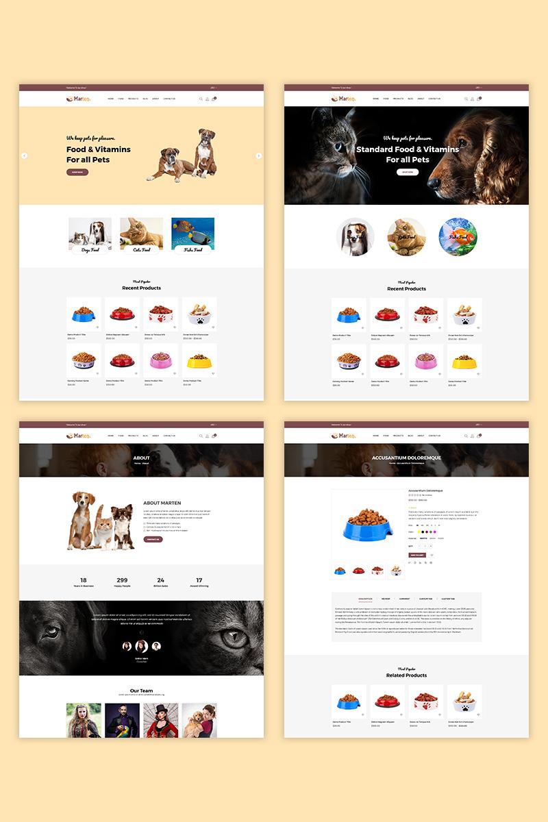 """""""Marten - Pet Food"""" thème Shopify adaptatif #73829"""