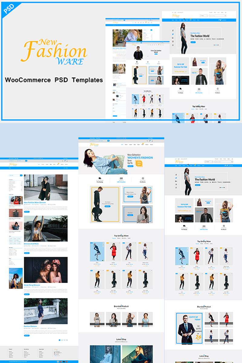 New Fashion Ware PSD Template