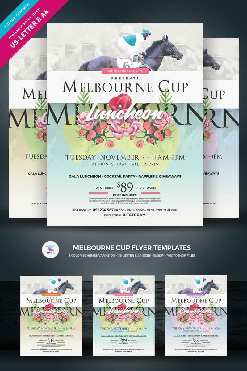 """Plantilla De Identidad Corporativa """"Melbourne Cup Flyer"""" #73868"""