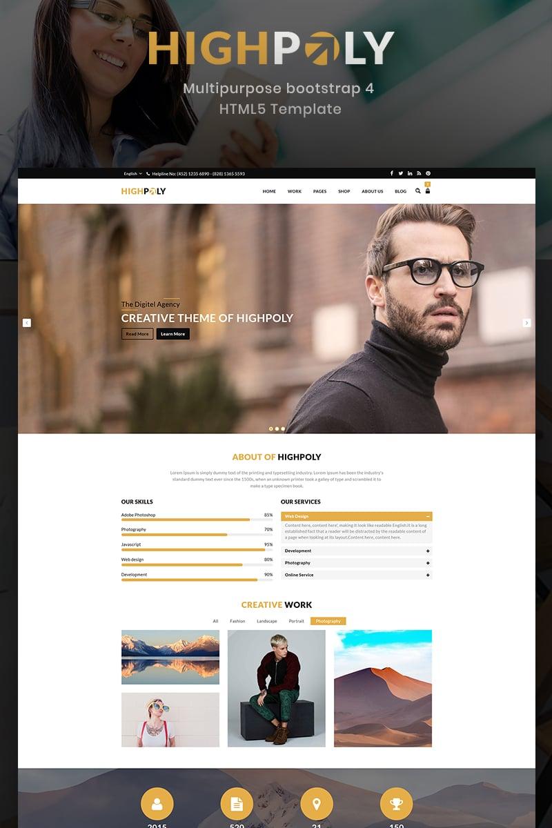 Reszponzív Highpoly - Responsive Multipurpose E-Commerce Weboldal sablon 73875