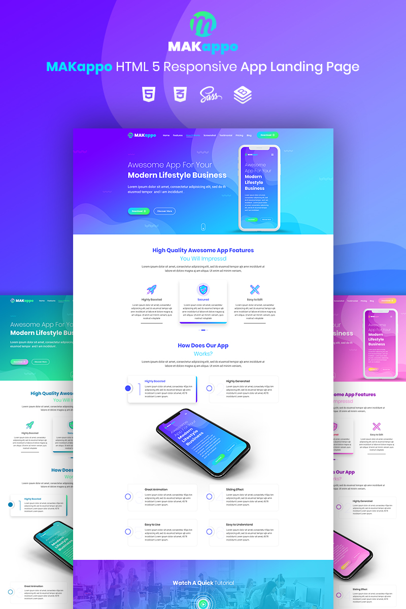 Szablon Landing Page MAKappo - App #73811