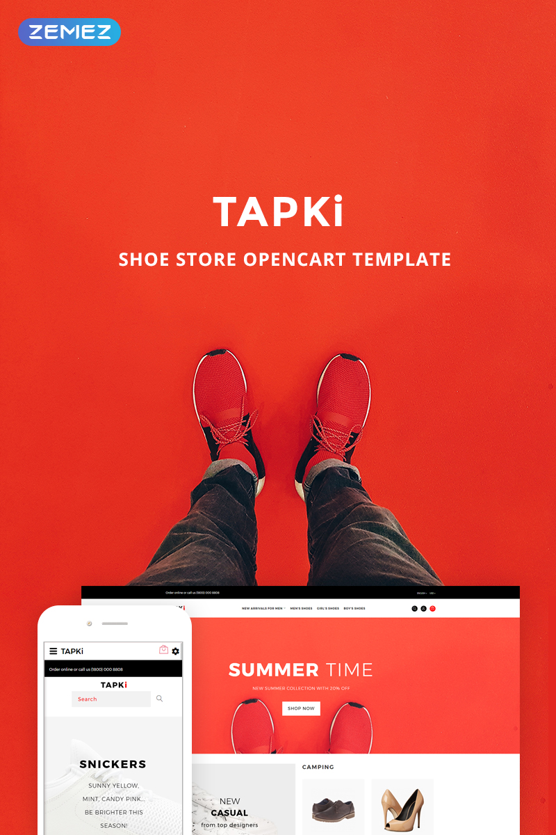 TAPKi - Shoe Store OpenCart Template - screenshot