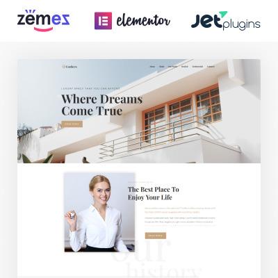 Responsive Tema De WordPress #73802 para Sitio de  para Sitio de Agencias inmobiliarias