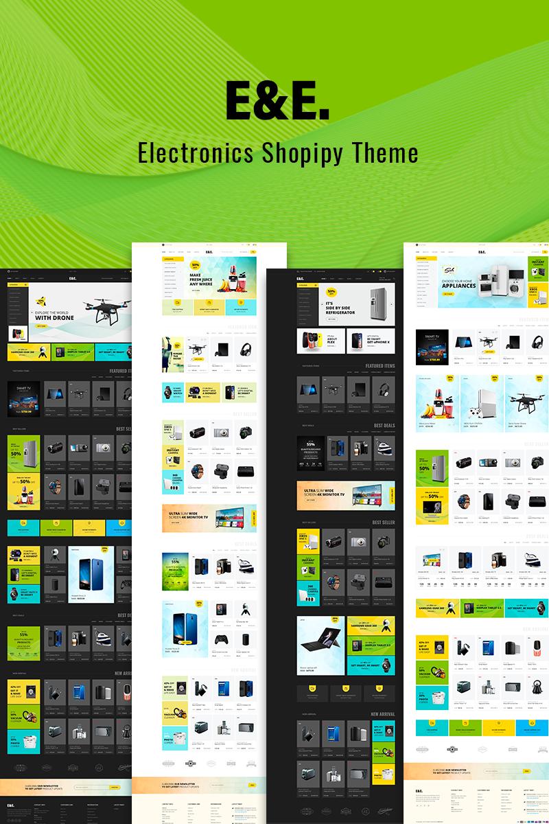 """Tema Shopify Responsive #73824 """"E&E - Electronics"""""""