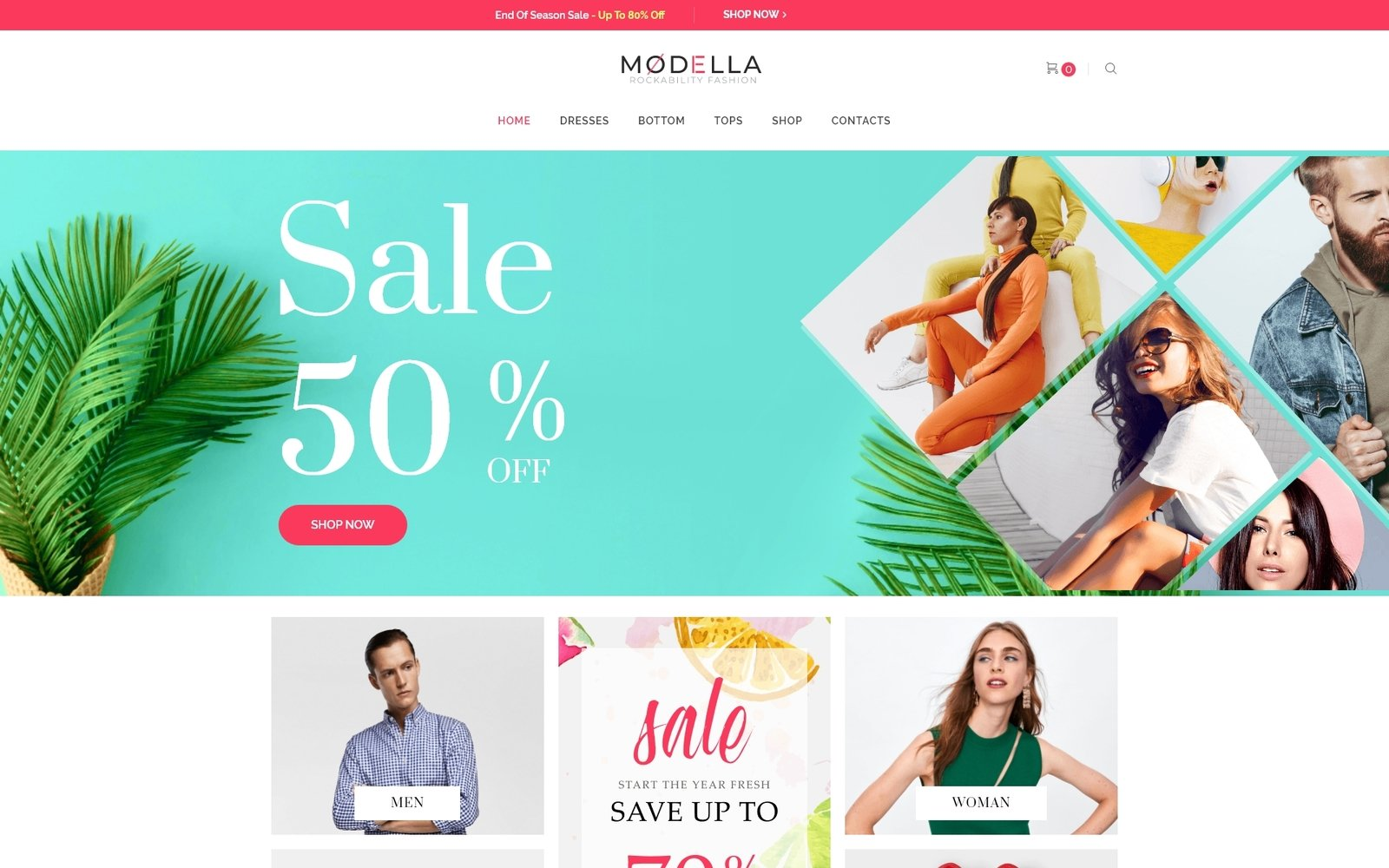 "Template WooCommerce Responsive #73882 ""Modella - Fashion Store Elementor"""