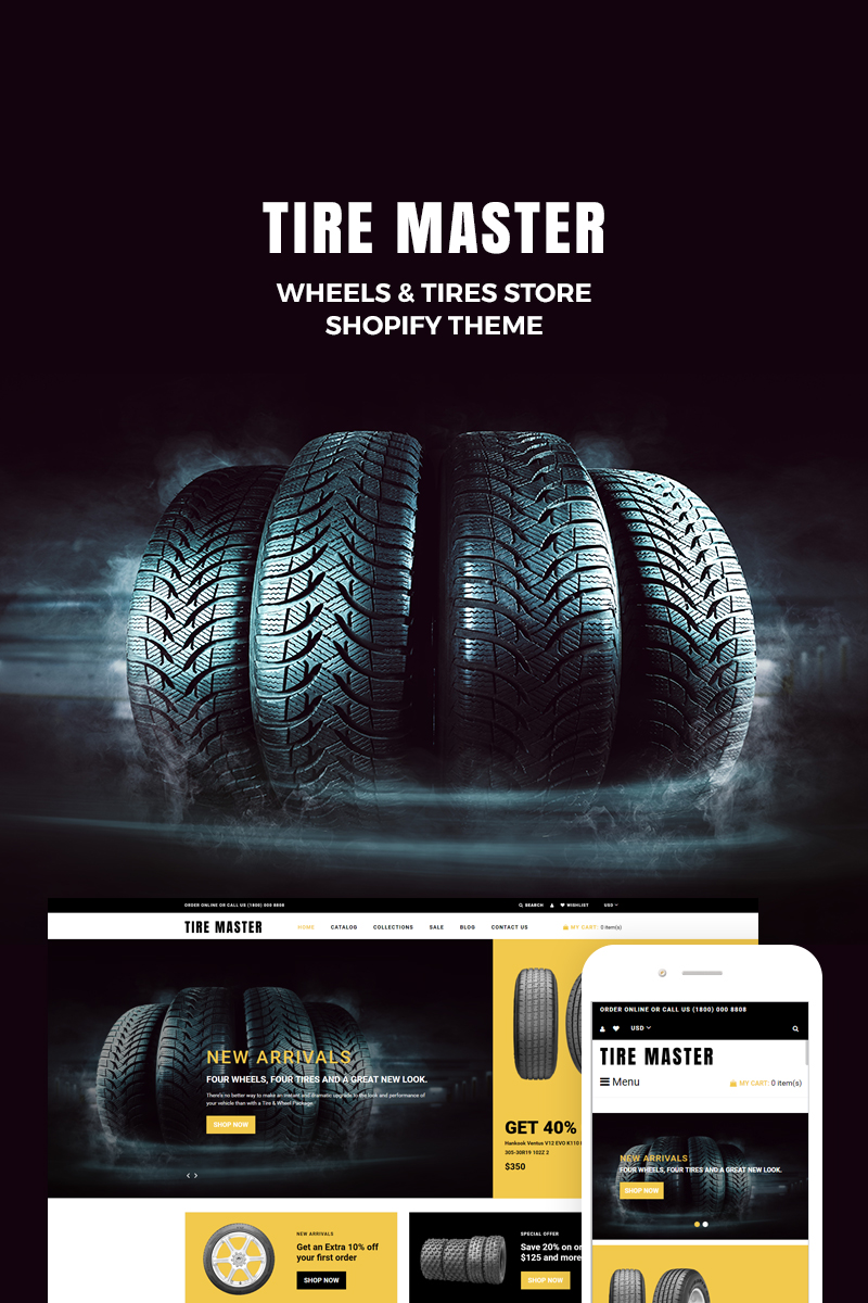TireMaster - Wheels & Tires Shop Shopify Theme
