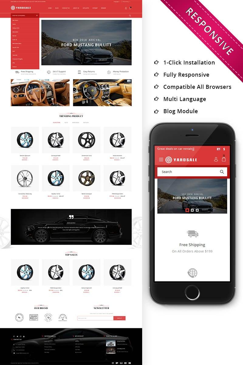 """Yardsale - Automobile Store Premium"" thème OpenCart adaptatif #73835"