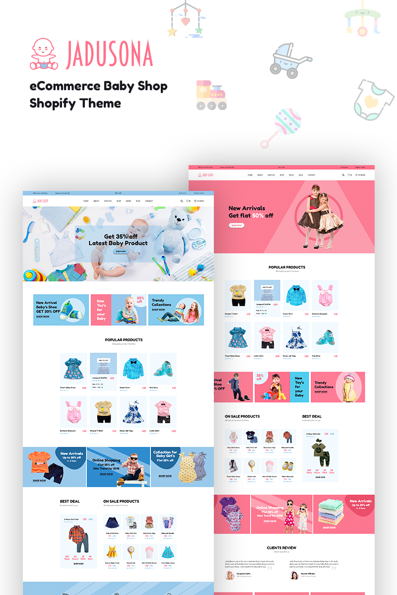 Jadusona - Baby Shop Shopify Theme