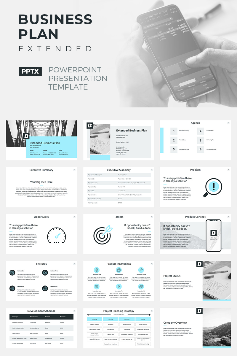 Business Plan Extended PowerPoint Template