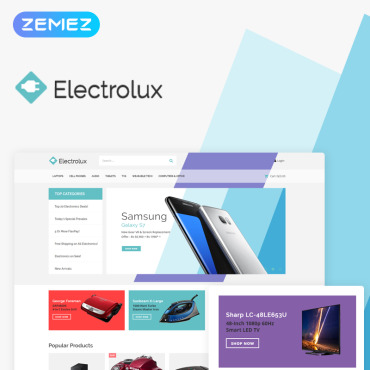 Preview image of Electrolux - Electronics Shop Elementor